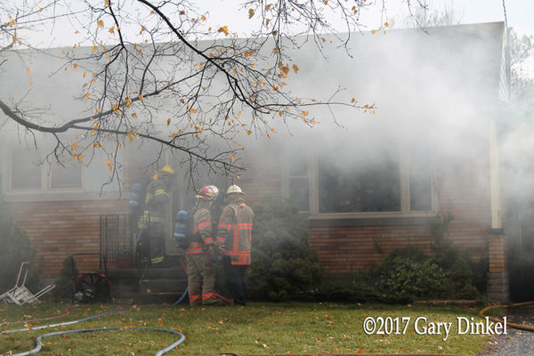 Kitchener Ontario house fire scene