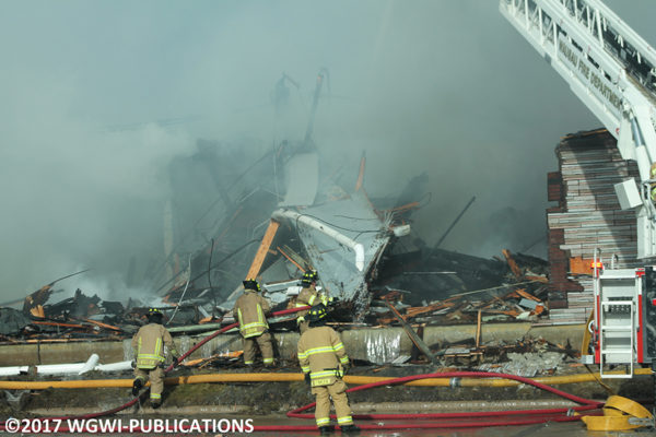 warehouse fire in Wausau WI 12-5-17