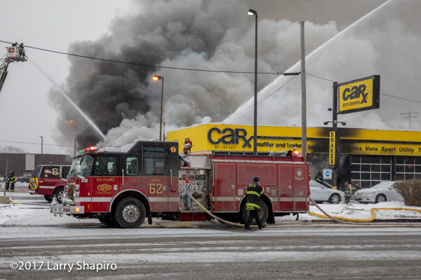 Car-X muffler shop destroyed by fire