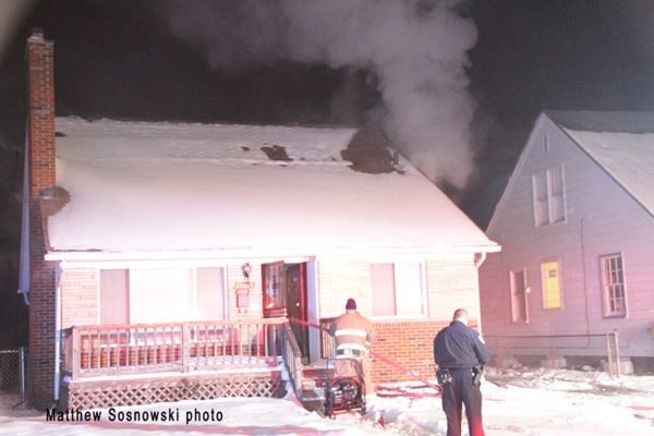 house fire in Harper Woods MI