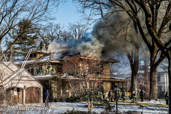 huge house destroyed by fire in Evanston IL