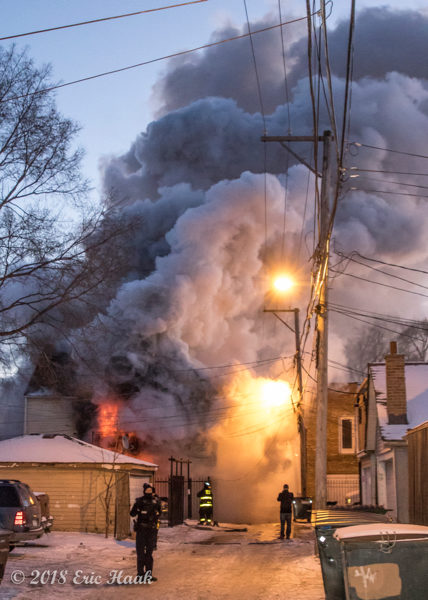 Chicago firefighters battle house fire and frigid weather