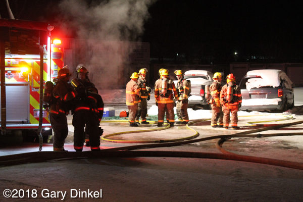 Waterloo Ontario firefighters at work