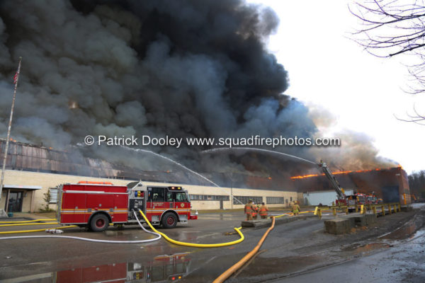 4-Alarm fire at a recycling plant in Willimantic CT
