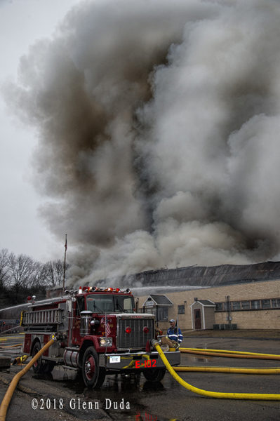 4-alarm fire at Waste Paper 1590 W. Main St. in Willimantic CT 1/28/18