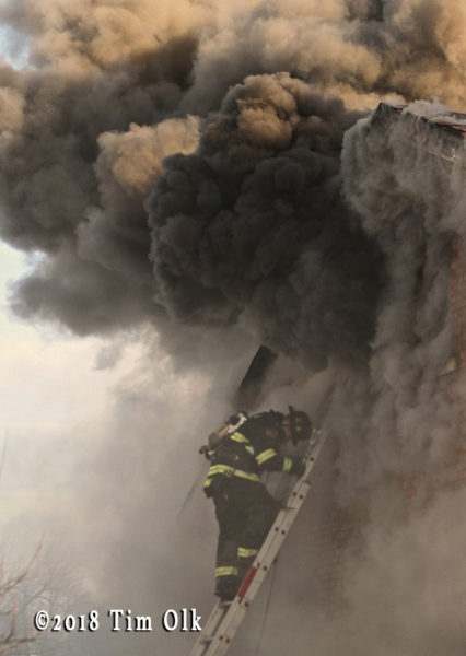 heavy smoke from house fire engulfs firefighter