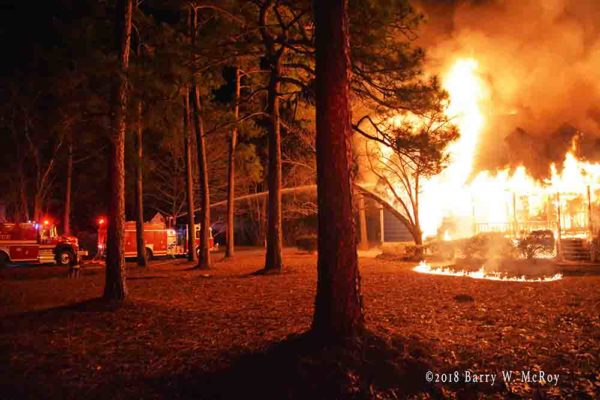 E-ONE fire engine at work in Colleton County house engulfed in fire