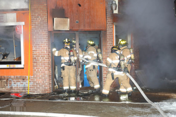 East Hartford Firefighters at work