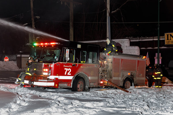 Chicago FD Engine 72 at work