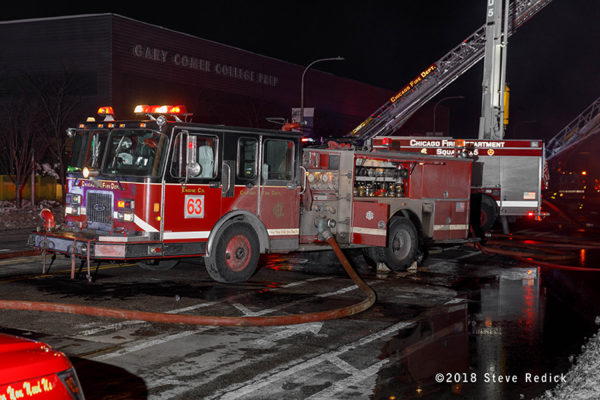 Chicago FD Engine 63 at work
