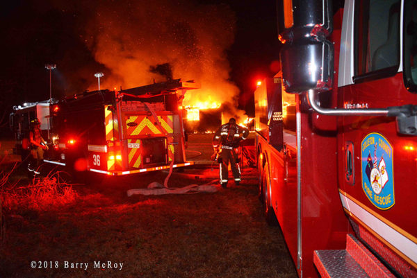 house gutted by fire in Colleton County SC