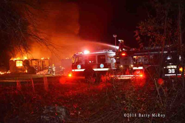 Colleton County SC Fire Rescue  at the scene of a house fire