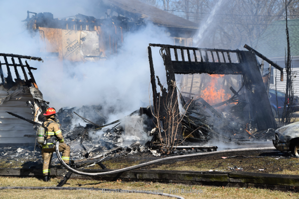 house destroyed by fire in Bristol WI