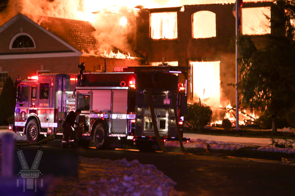 South Windsor fire engine at house fire