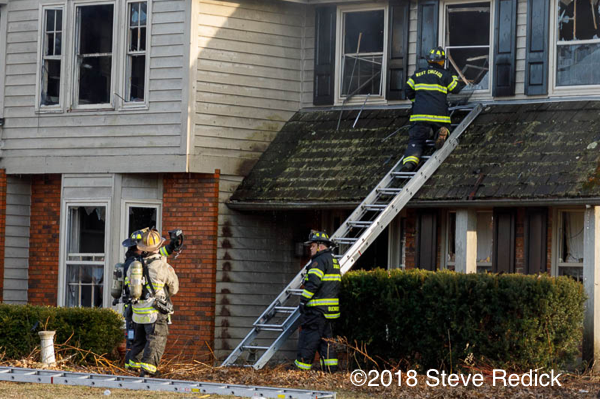 Firefighters at house fire