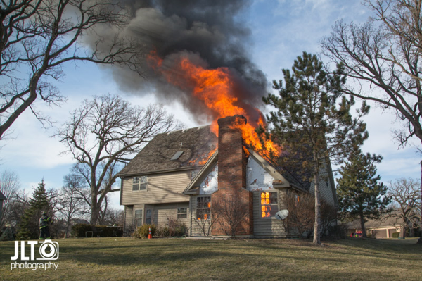 Heavy Fire From House On Fire