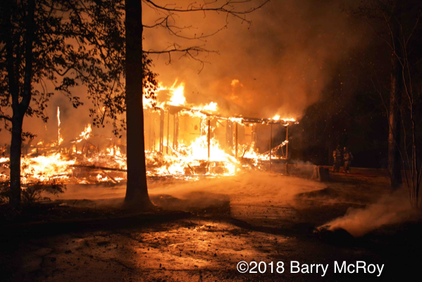 rural house destroyed by fire