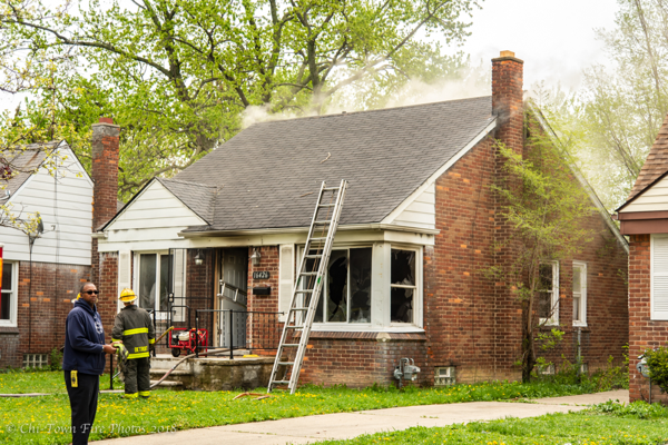 Detroit dwelling after a fire