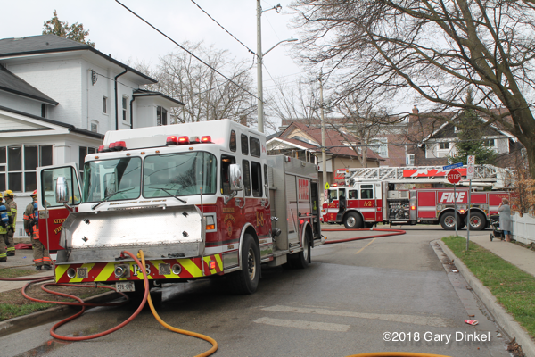 scene of Kitchener house fire