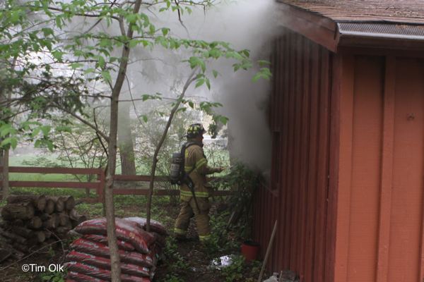 garage fire in River Forest IL