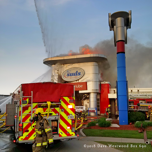 fire at suds Car Wash in Cambridge Ontario