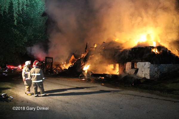 barn fire in Woolwich Township Ontario