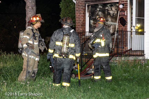 Detroit Firefighters after battling a fire