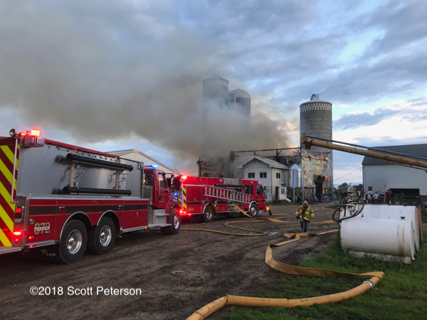 dairy barn destroyed by fire