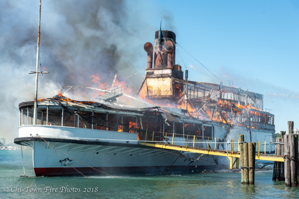 Boblo Boat fire in Detroit