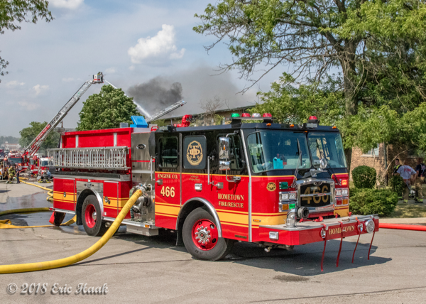 Hometown FD Engine 466 at a fire