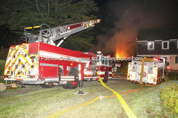E-ONE quint battles house fire