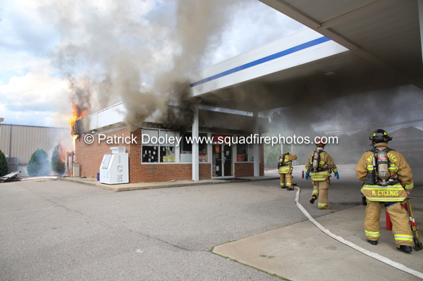 gas station fire in Manchester CT