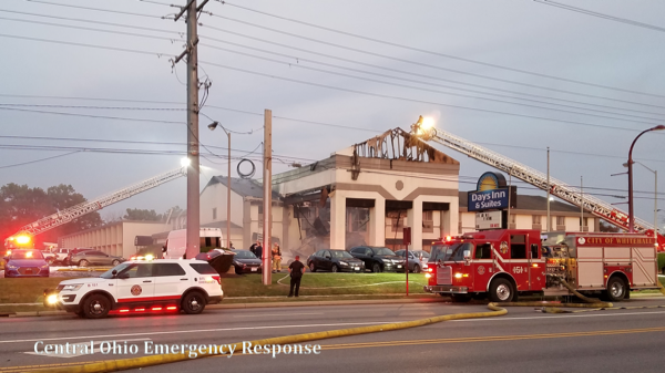 3-Alarm fire damages Days Inn motel in Reynoldsburg, OH 8/9/18