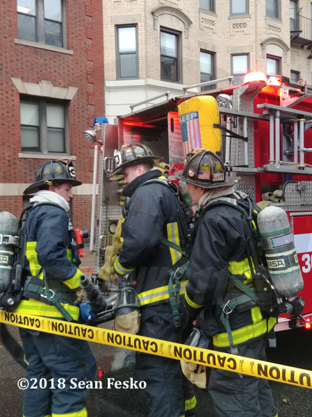 Boston Firefighters at fire scene