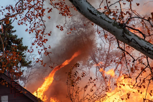 fire tornado at house fire