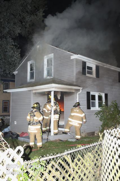 Glastonbury Firefighters at house fire