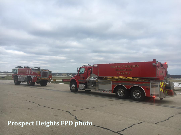 Prospect Heights FPD apparatus at airport standby