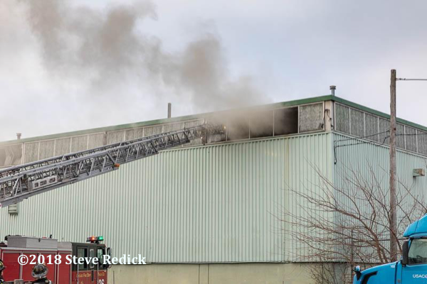 warehouse fire in Chicago