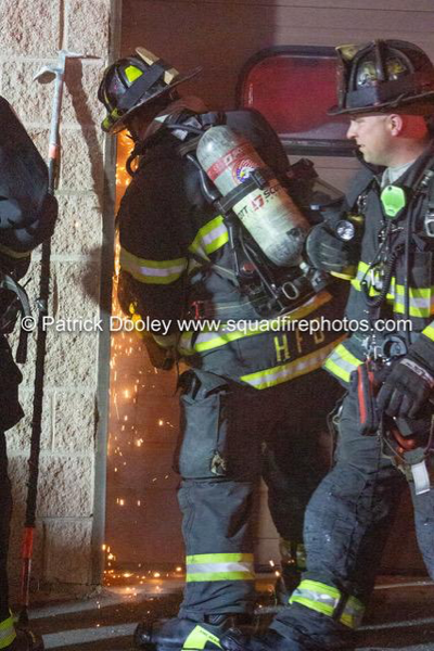 Hartford CT Firefighters at fire scene
