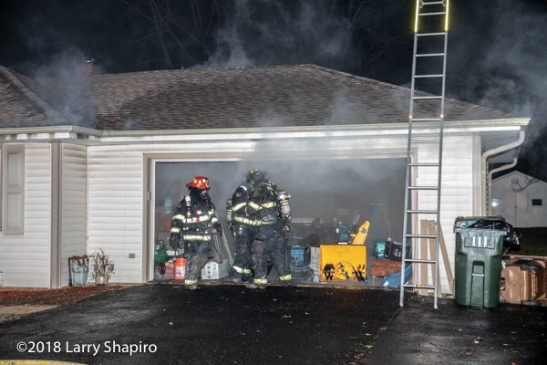 Firefighters at smokey house fire