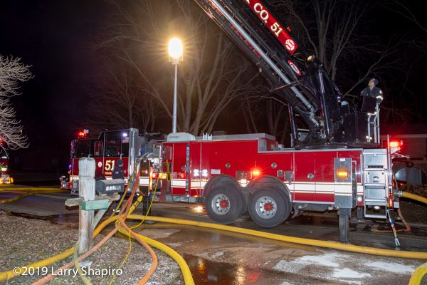 Lincolnshire-Riverwoods FPD Truck 51 quint with lines of