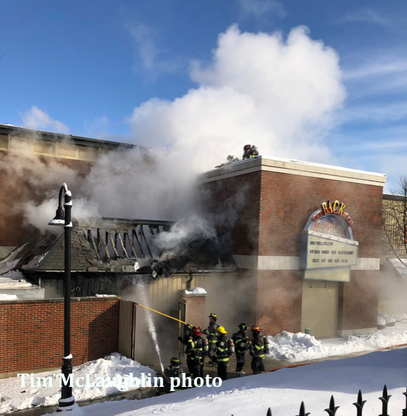 fire at Dirty Nellies pub