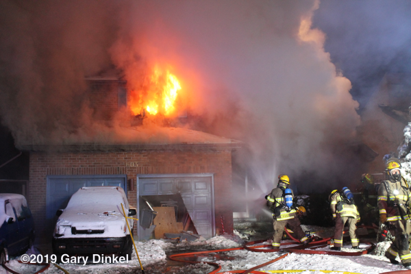 house engulfed in fire in Kitchener ON