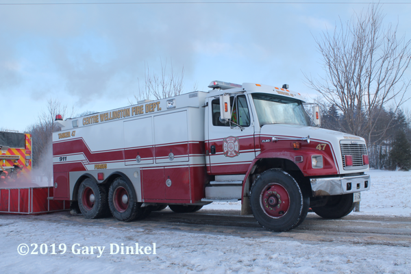 Centre Wellington FD tanker at fire scene