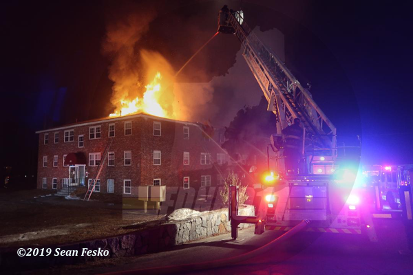 4-Alarm apartment building fire in Townsend MA
