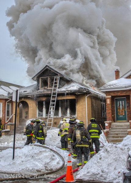 Chicago bungalow destroyed in winter fire