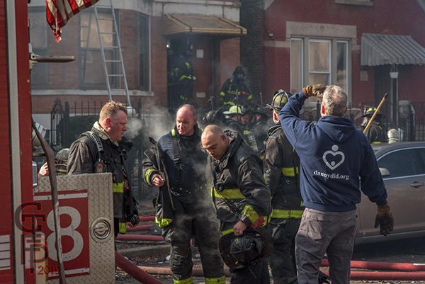 Chicago Firefighters after battling a fire