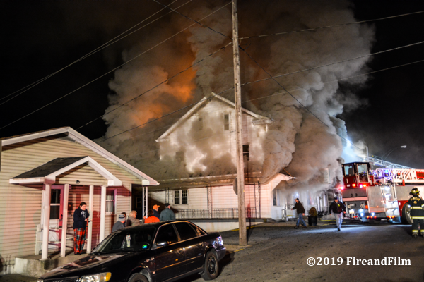 A major 3-Alarm fire destroyed four homes and a popular sandwich shop in Ashland PA