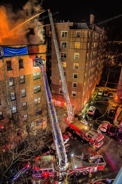 Firefighters battle a massive apartment building fire in Yonkers NY 3-12-19