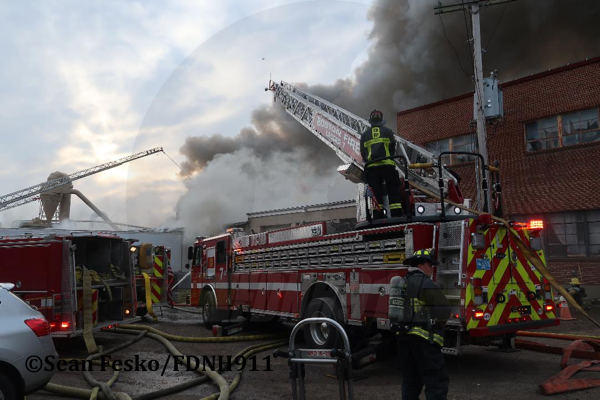 9+ Alarm Fire Destroys Boston Casket Company